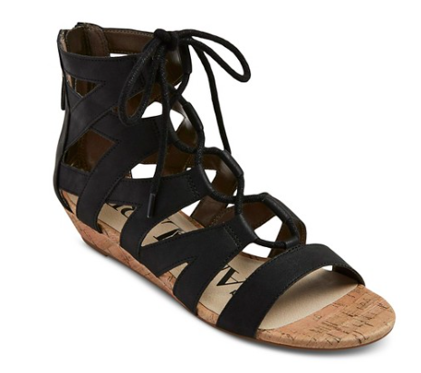 Arianna Gladiator Sandal in black | Target Tuesdays | Covet Living