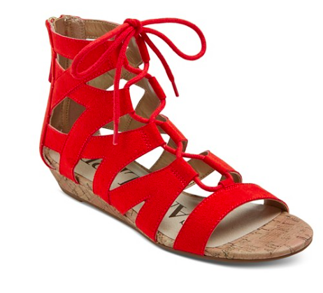Arianna Gladiator Sandal in red | Target Tuesdays | Covet Living