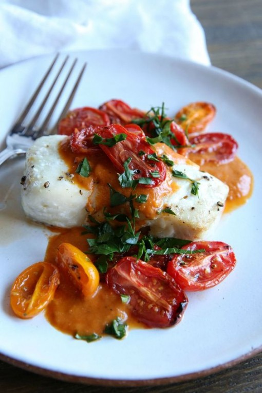 Roasted Cod with Tomato Sauce | Covet Living