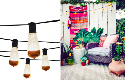 Vintage Clear Bulb String Lights with Gold on Bottom | Target Tuesdays | Covet Living
