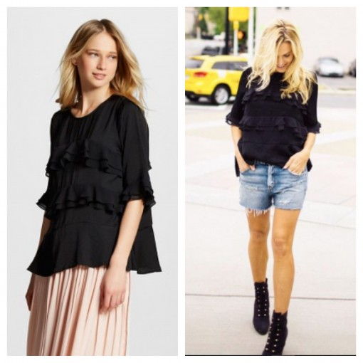 Who What Wear Ruffle Top | Target Tuesdays | Covet Living