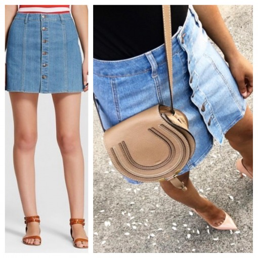 Women's Button Through Jean Skirt | Target Tuesdays | Covet Living
