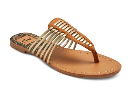 dv Gaby Thong Sandals in Gold | Target Tuesdays | Covet Living