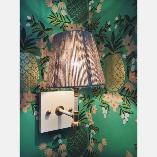 hygge and west mint pineapple wallpaper | casa covet living