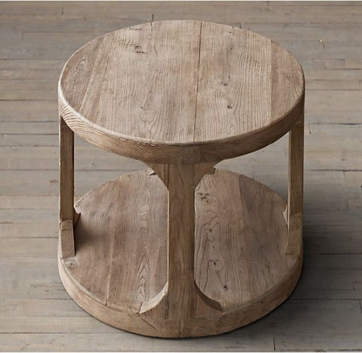 RH Marten's Round Side Table | Covet Living
