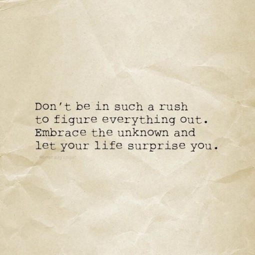 don't be in a rush