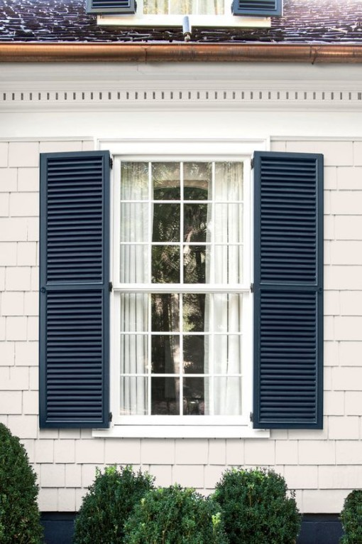 front window and shutters