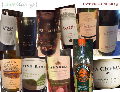 Fave Vino Under $25 | Covet Living