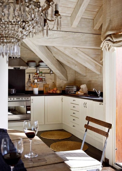 rustic-kitchen-ornate-chandelier-mountain-decor-covet-living