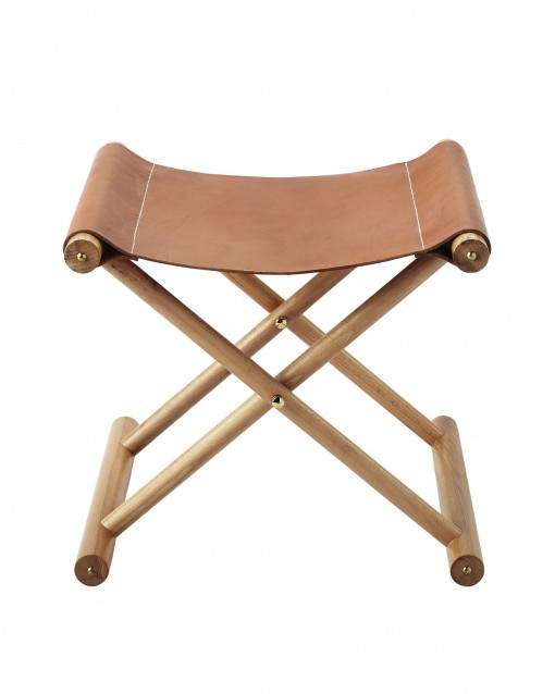 Cooper Leather Stool, Serena + Lily | Covet Living