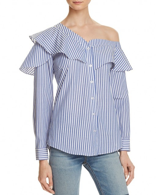 Bardot Ruffle and Frill Shirt | Bloomingdales