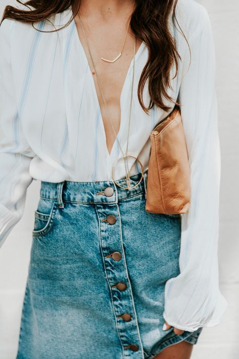 Denim Skirt | Covet Living