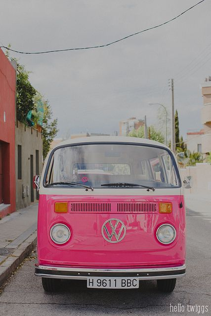 Pink VW Bus | Covet Living