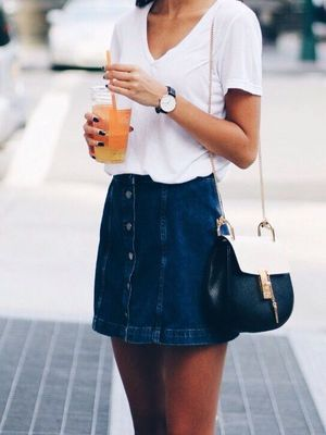 jean skirt | covet living